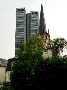 Blick aus Hotelzimmer in Frankfurt a. M.