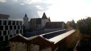 Blick aus FH zu Neuem Schloss Ingolstadt