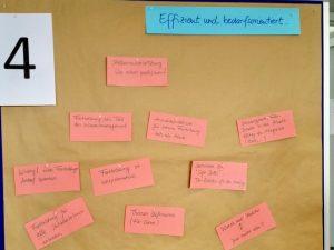 Ergebnistafel des World-Café-Workshops von Delia Bauer-Krupp