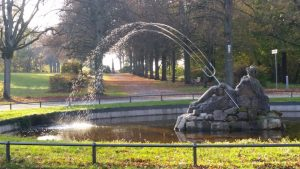 Neptunbrunnen im Schwanbergpark (Rödelsee)