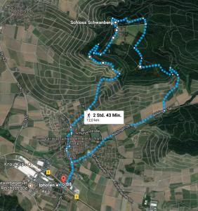 Wanderweg Iphofen-Schwanberg