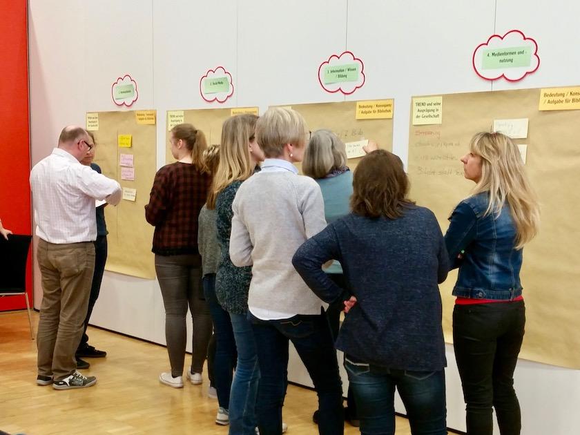 Team der Stadtbibliothek Nordhorn, Zukunftswerkstatt 2018, Workshop 1