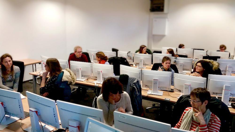 Teilnehmende Fortbildung Pressearbeit Wiesbaden