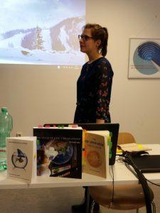Büchertisch zur Verteidigung der Bachelorandin Franziska Neudeck, Fachhochschule Potsdam