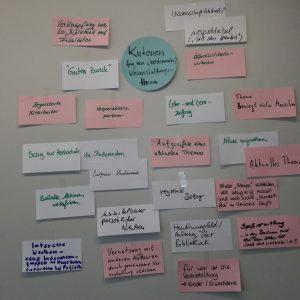 """Ergebnis der Diskussion """"Kriterien für ein Veranstaltungsthema"""""""