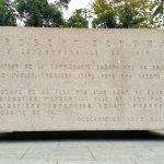 Robert Schumann-Gedenktafel auf dem Weg zum Europa-Viertel in Luxemburg