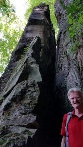 Felsspalten und -kanten im Mullerthal, Luxemburg