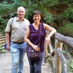 Jean-Marie und Ilona am Schiessentümpel im Mullerthal, Luxemburg