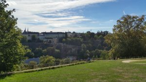 Panoramablick vom Fort Thuengen (Kirchberg-Plateau) aus