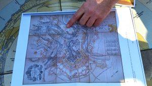 Historische Stadtkarte, Stadtführung Luxemburg