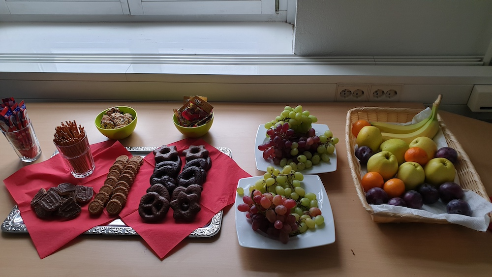 Snacks für die Kursteilnehmer FHP Potsdam
