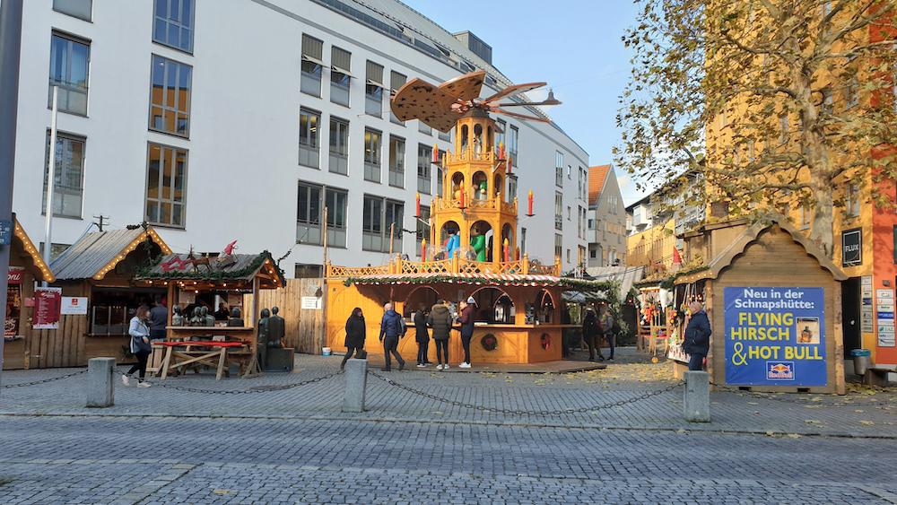 Mittagspausenspaziergang mit adventlicher Stimmung in Landshut.
