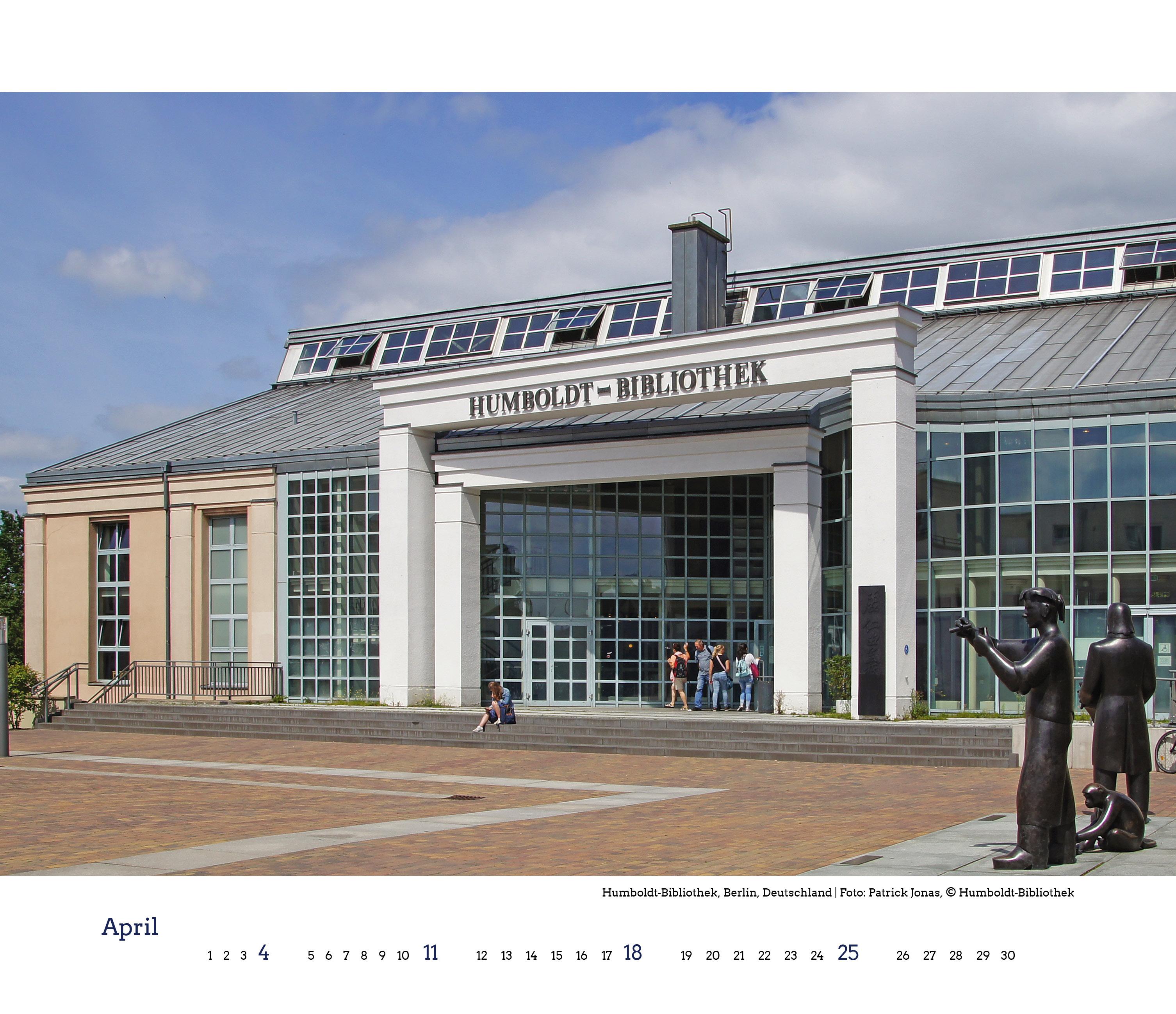 Humbold-Universität Berlin, Kalenderblatt Blickwinkel Bibliothek 2021